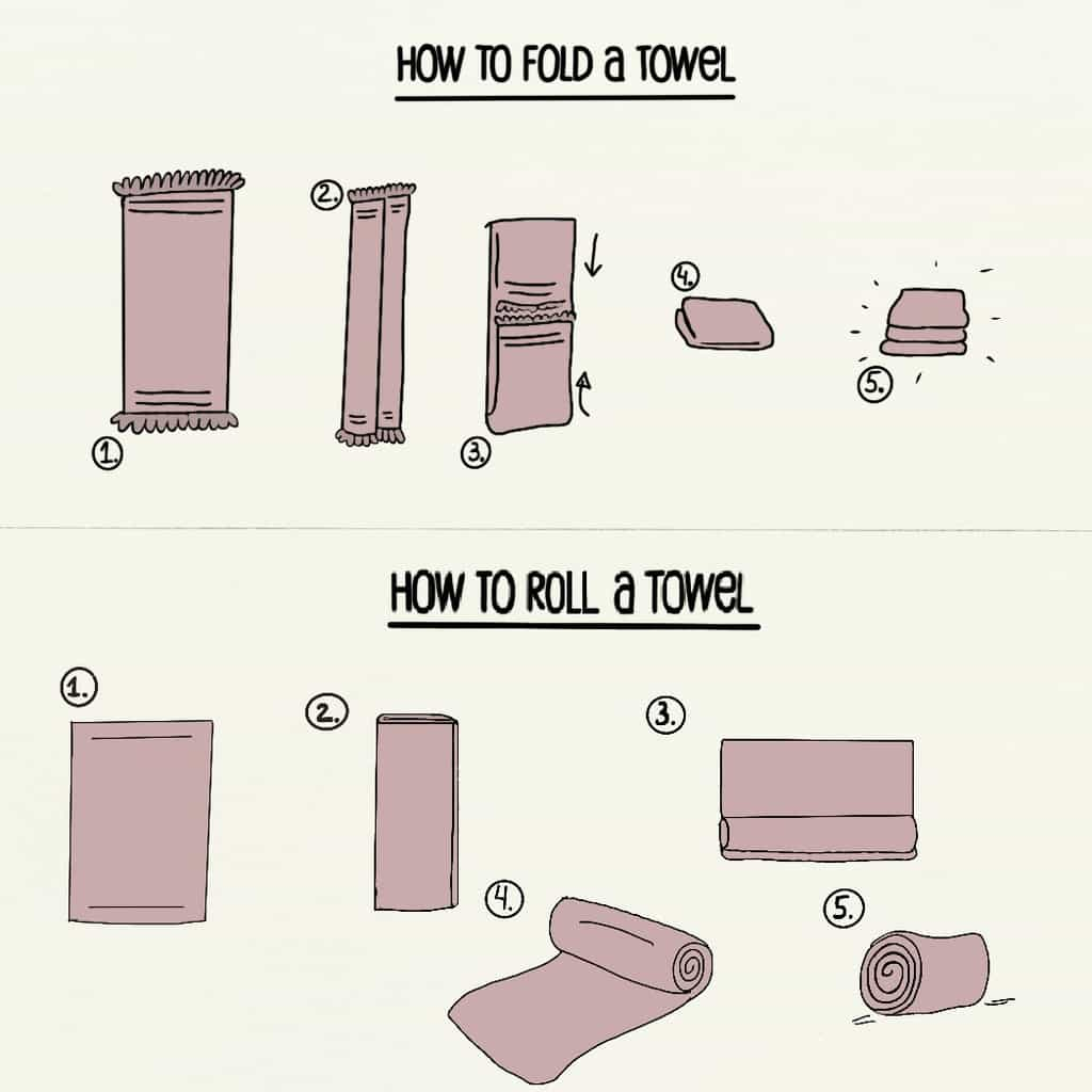 Simple And Basic Way To Roll And Fold A Towel Homganize
