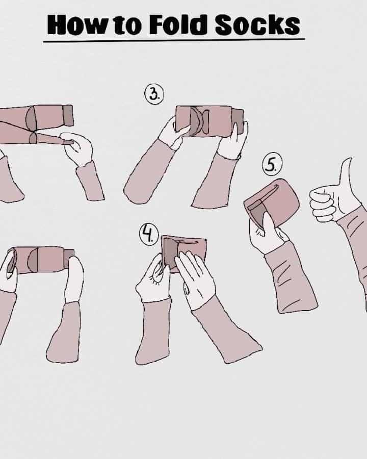 folding and organizing socks